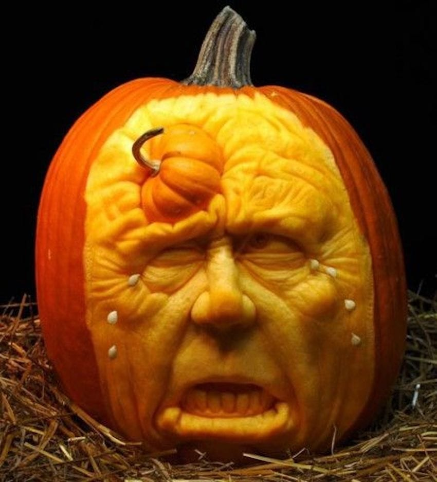 Halloween Carving - Jack-O'-Lantern Tradition - face pumpkin