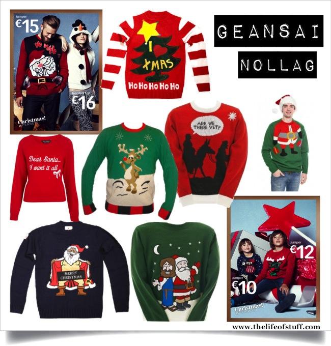 Christmas Jumpers Geansai Nollag