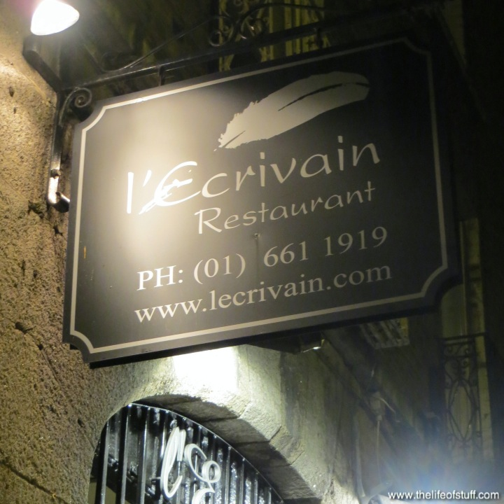 The Life of Stuff   Personal and Irish Lifestyle Blog: LEcrivain Dublin LEcrivain, 109a Baggot Street Lower, Dublin 2