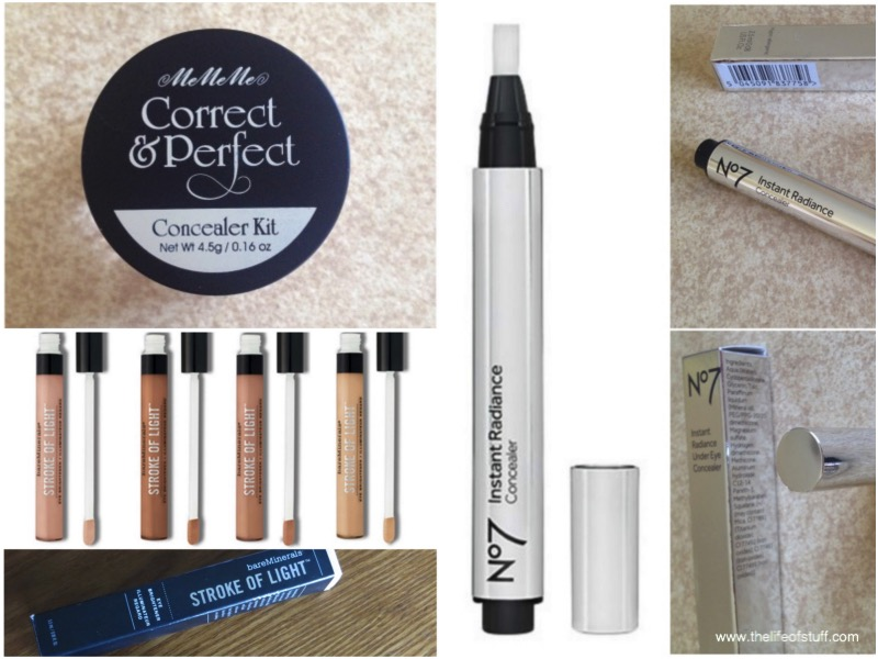 Beauty Fix - Concealers from MeMeMe, bareMinerals and No7