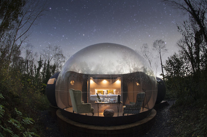Stargazing Forest Domes at Finn Lough Resort, Fermanagh