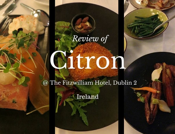Citron, The Fitzwilliam Hotel, St. Stephen's Green, Dublin 2