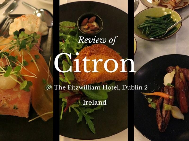 Citron, The Fitzwilliam Hotel, St. Stephen's Green, Dublin 2