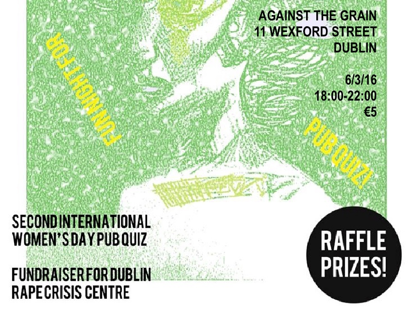 What's On this March 2016 in Dublin - International Women's Day Pub Quiz for Dublin Rape Crisis Centre