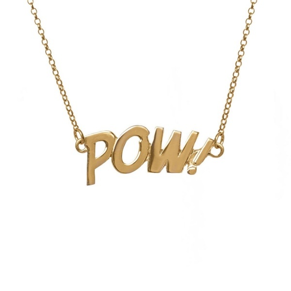 10 Irish Designed Jewellery You'll Covet Edge Only POW Letters Necklace €219.00