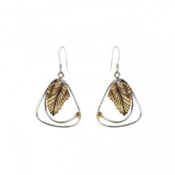 10 Irish Designed Jewellery You'll Covet Gallardo & Blaine Designs Leaf Earrings €47.00