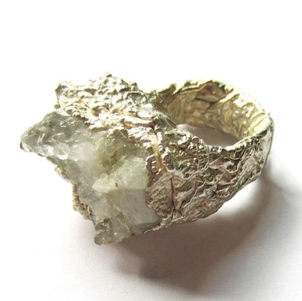 10 Irish Designed Jewellery You'll Covet Lorna Boyle Metamorphic Chunky Quartz Ring Silver €130.00