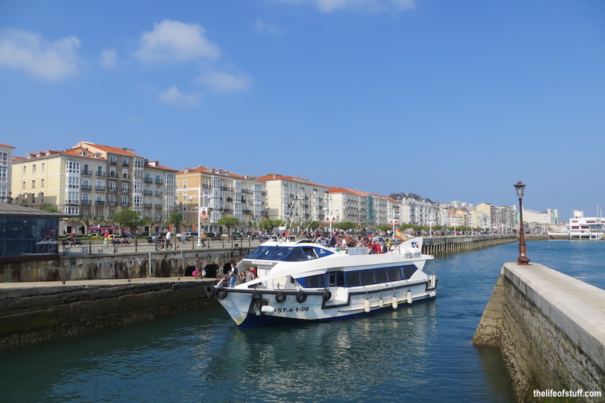 From Santander City to Somo Beach, Cantabria, Spain