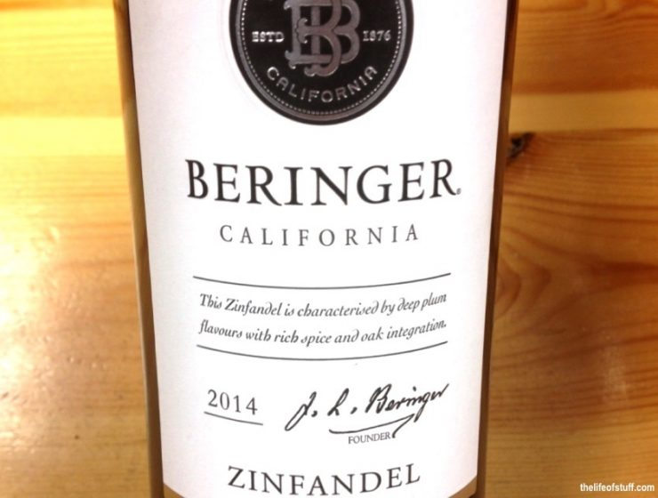 Bevvy of the Week - Beringer, Californian Zinfandel