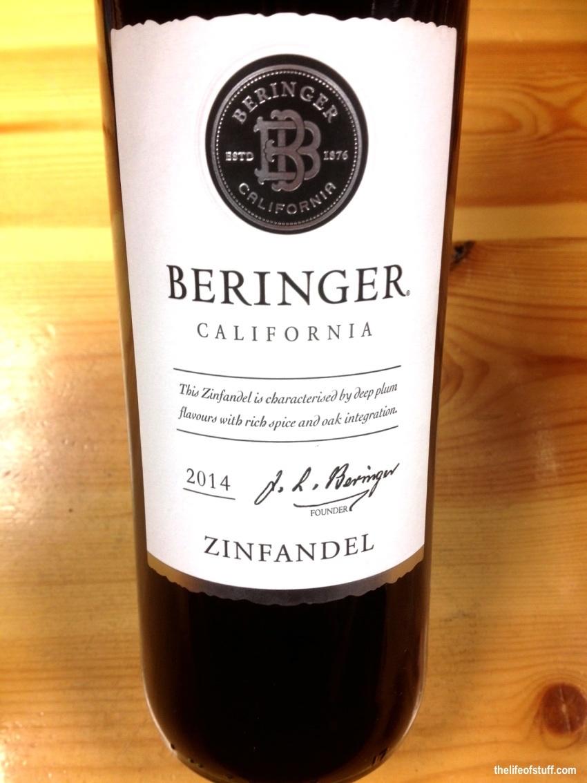 Bevvy of the Week - Beringer, Californian Zinfandel