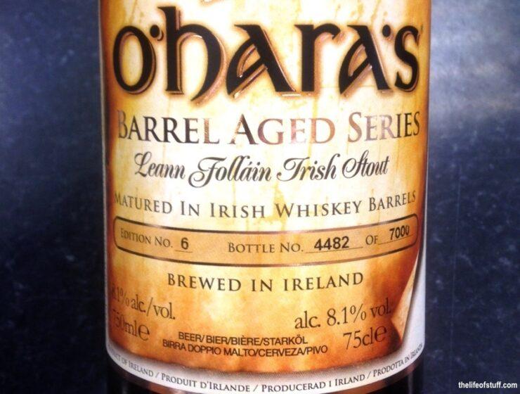 Bevvy of the Week - O'Hara's Barrel Aged Series: Leann Folláin Irish Stout