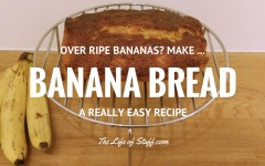 Over Ripe Bananas? Make Banana Bread! A Simple Banana Bread Recipe