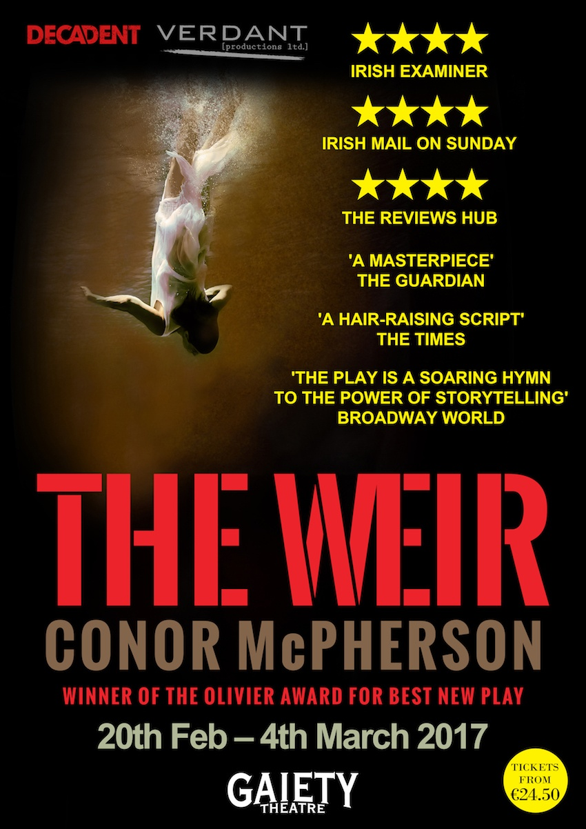 """Conor McPherson's Award-Winning """"The Weir"""" at the Gaiety Theatre - Win Tickets to Opening Night Here!"""