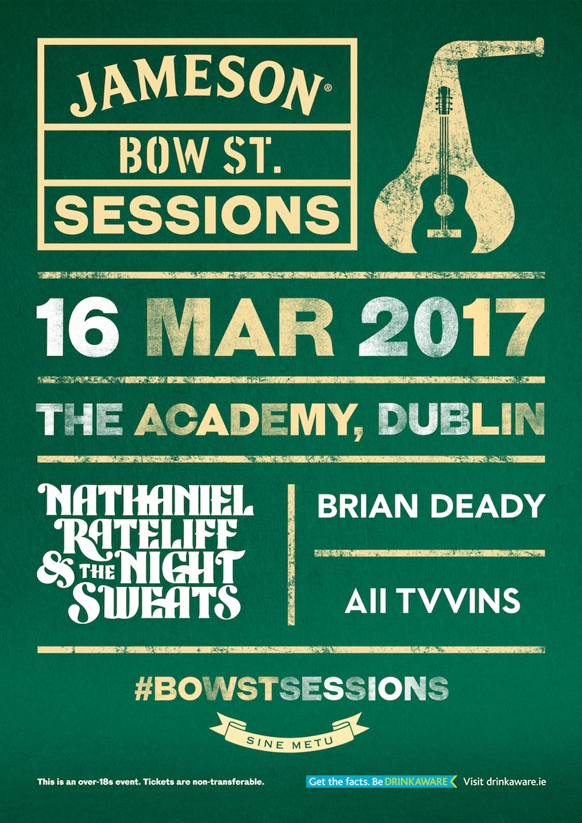 Win Tickets to The Jameson Bow St Sessions Special St. Patrick's Celebration on March 16th