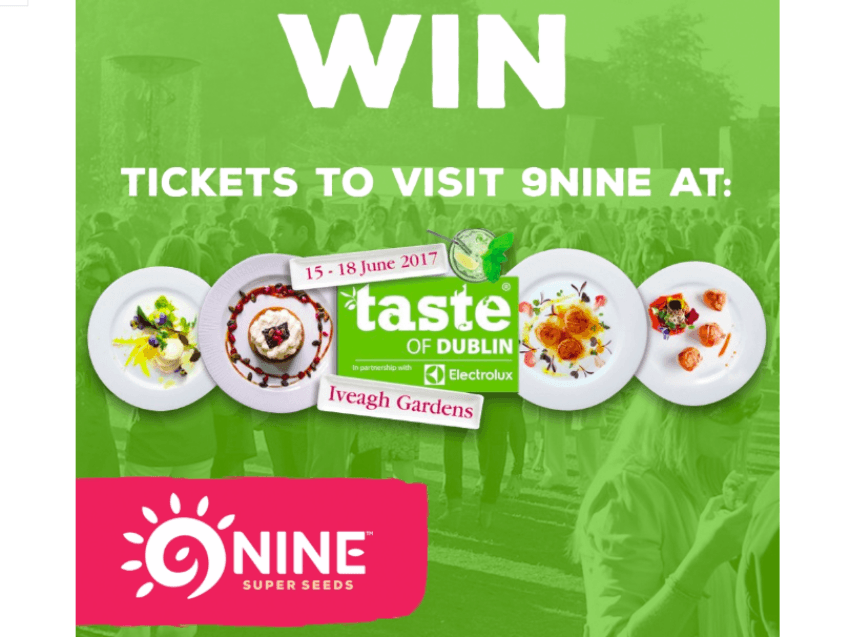 Win Tickets to Food and Drink Festival 'Taste of Dublin 2017'