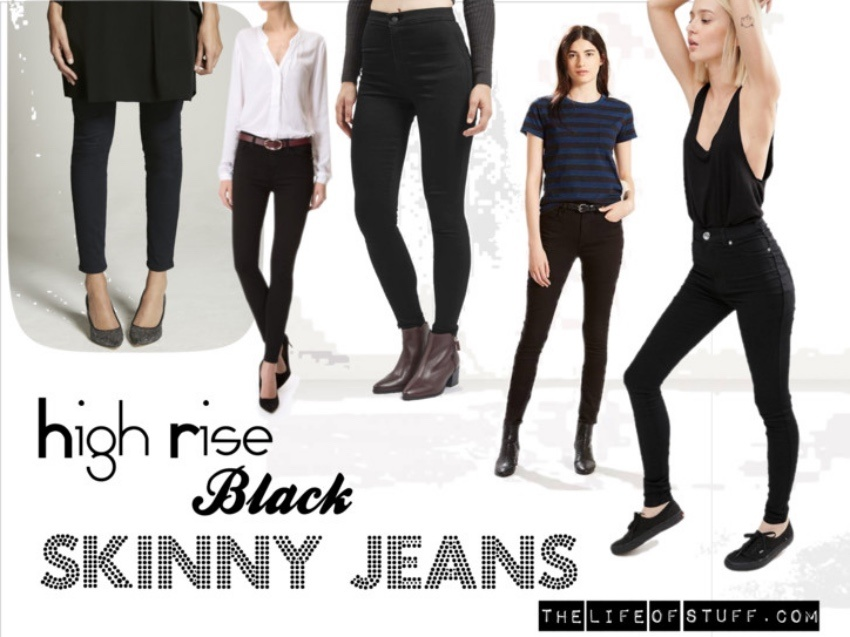 Fashion Fix - The Skinny on High Rise Black Skinny Jeans