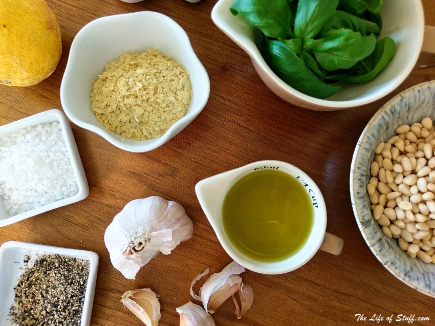 A One Basil Plant Recipe for Two Servings of Creamy Vegan Pesto - The Ingredients