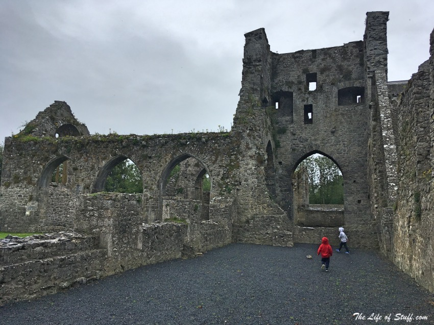 Exploring Kells Priory in Co. Kilkenny, Ireland - The Boys at North Transept and Crossing Tower
